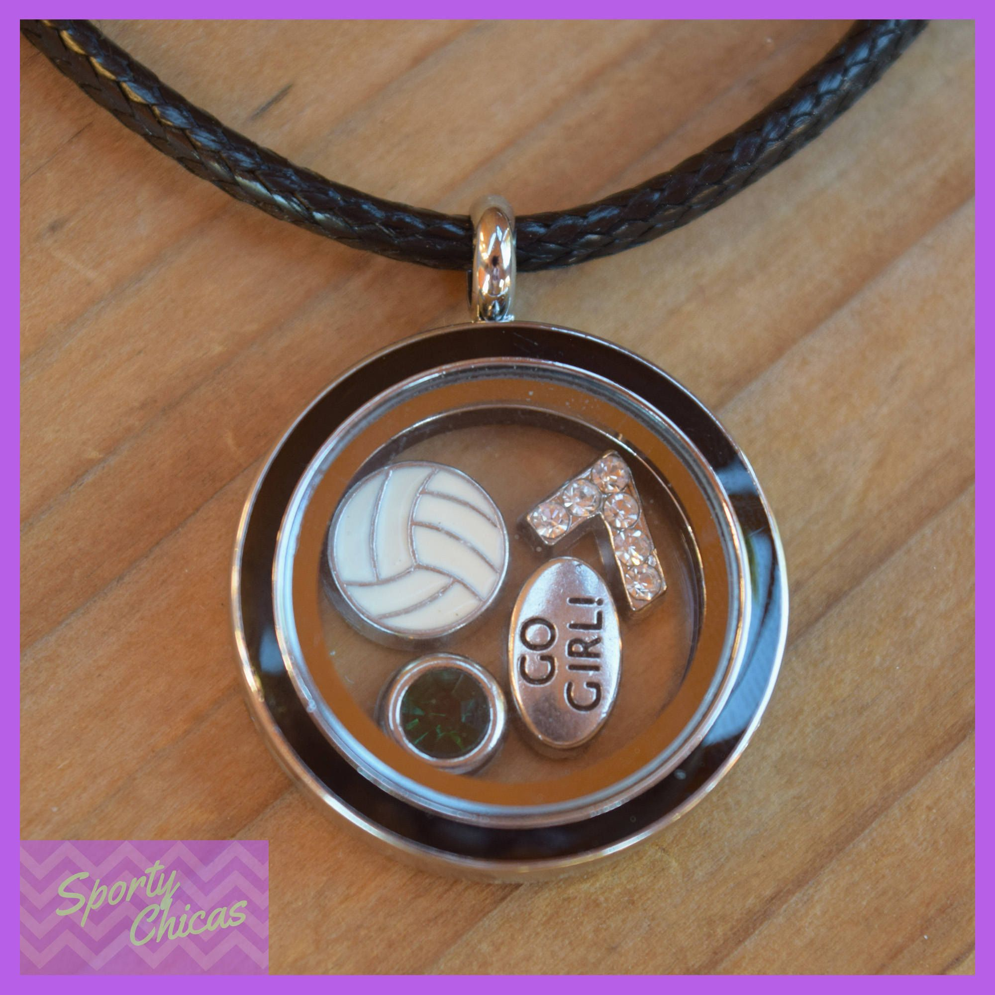 Volleyball Gift Girls Volleyball Necklace Custom Volleyball Jewelry Floating Locket Volleyball Mom Volleyball Gifts Volleyball Jewelry Volleyball Necklace
