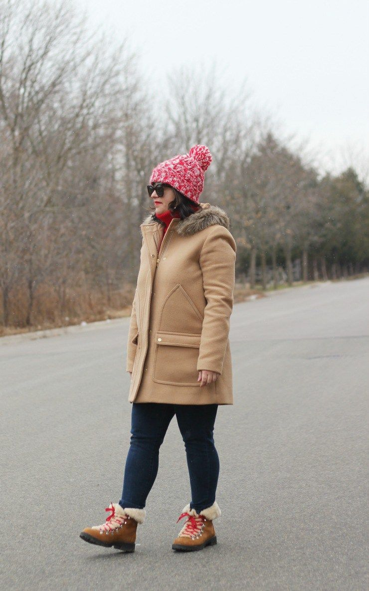 2901ab9326f JCREW nordic boot review winter outfit with shearling boots.  JCREW