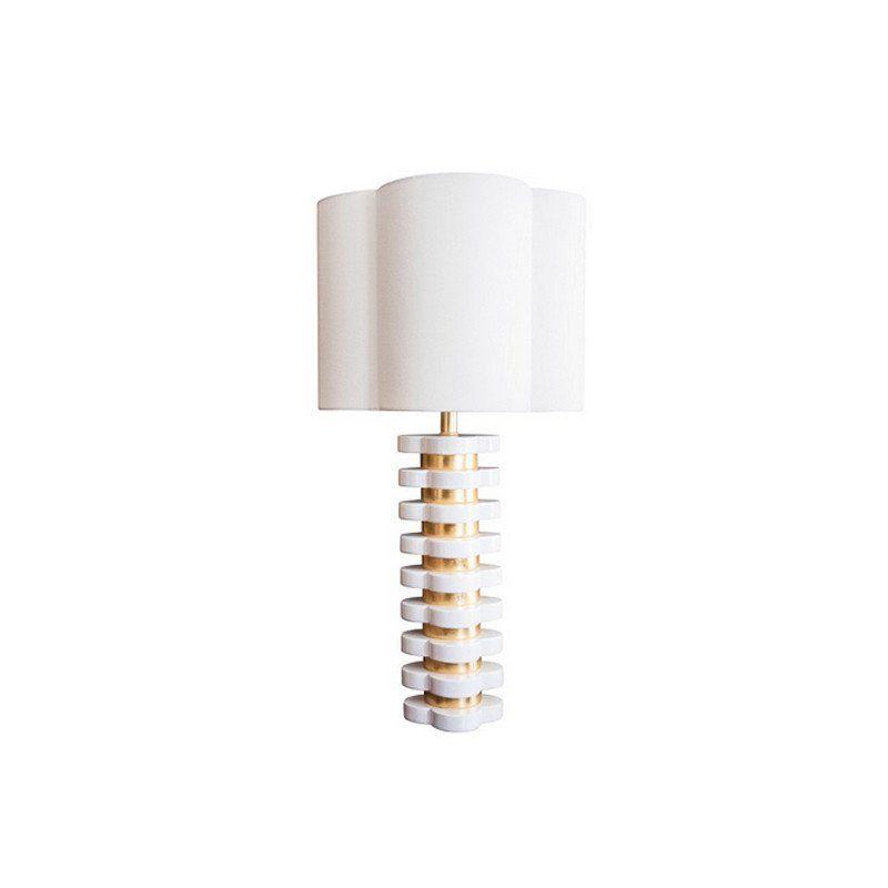 White Quatrefoil Lamp