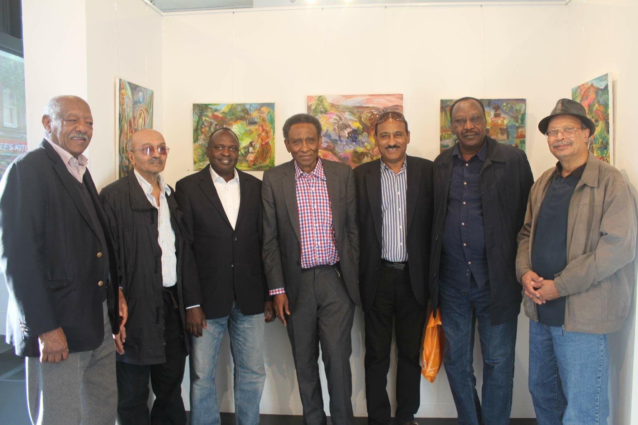 فنان تشكيلي سوداني يعرض أعماله في لندن