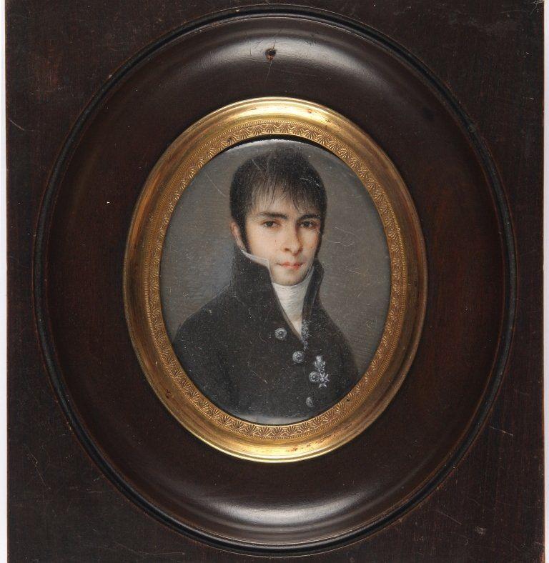 Retrato En Miniatura Del Padre De Larra Mariano De Larra Y Langelot Médico Escuela Española Acuarela Sobr Miniature Portraits Watercolor Portraits Portrait