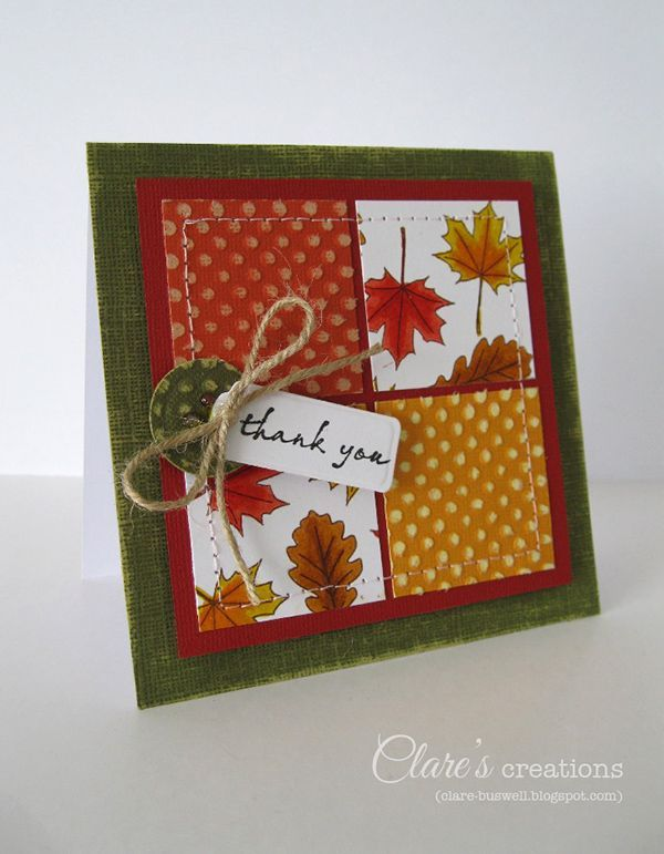 Thanksgiving Card Making Ideas Part - 34: Nice Fall Card Idea · Thanksgiving CardsHoliday ...
