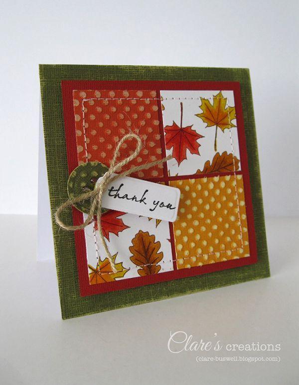 Thanksgiving Card Making Ideas Part - 34: Nice Fall Card Idea · Thanksgiving CardsHoliday ...