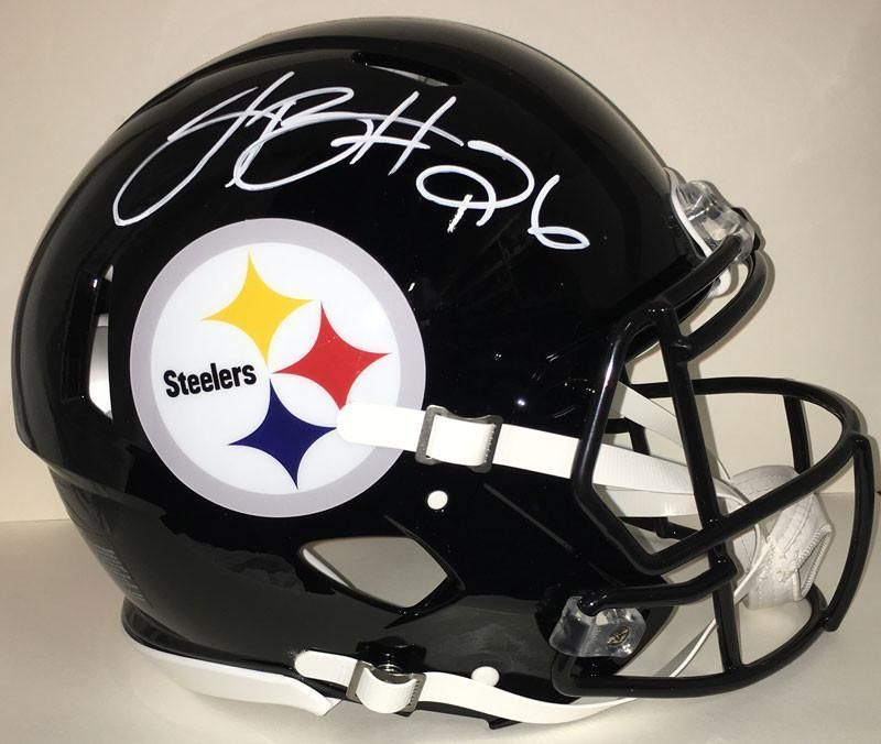 Le'Veon Bell Autographed Full-Size Authentic Speed Helmet Autographed in White