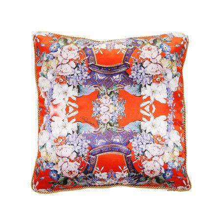 Roberto Cavalli - Floreale Silk Cushion - 001 - 40x40cm