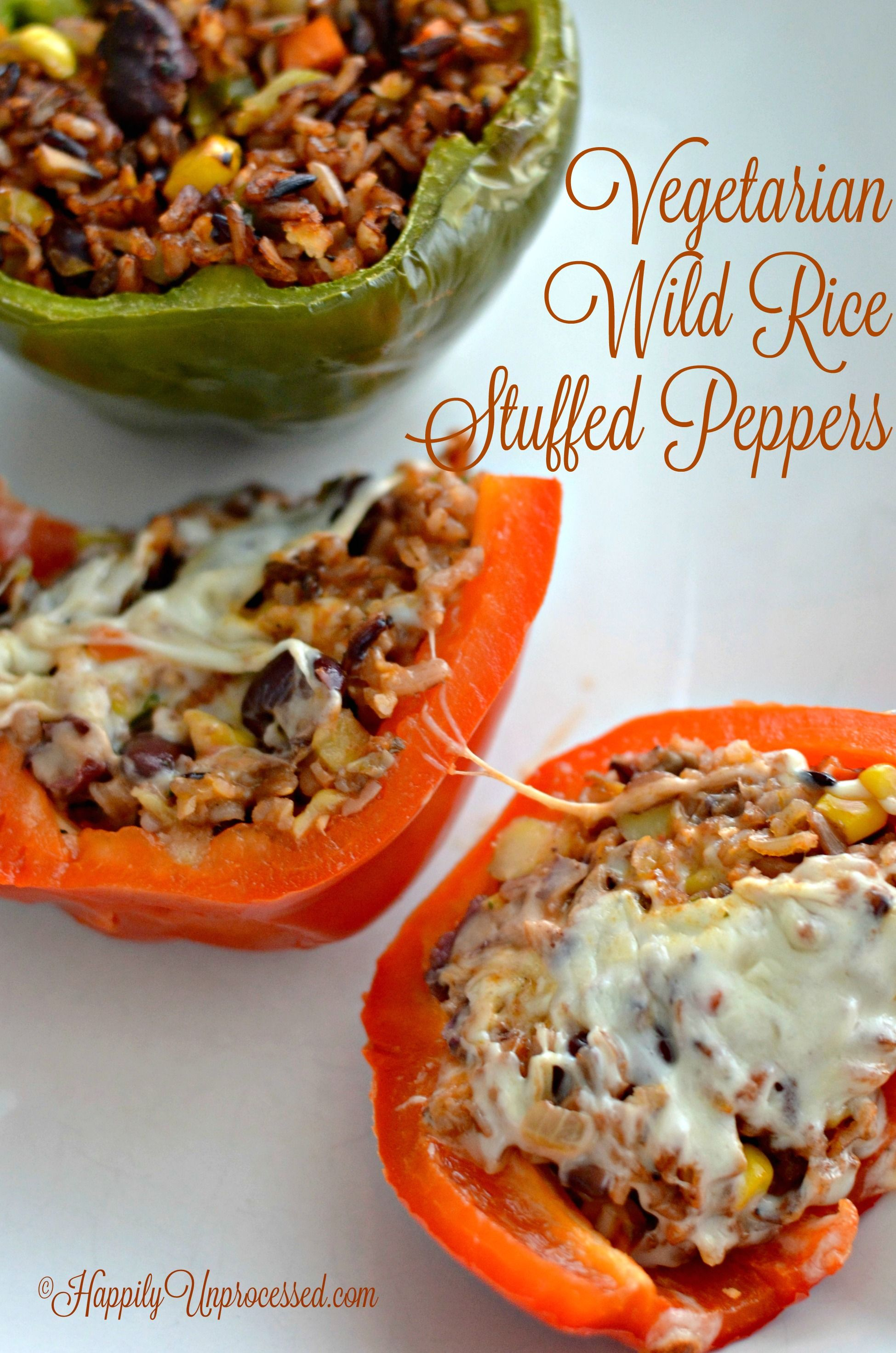 Vegetarian Stuffed Peppers Happily Unprocessed Recipe Stuffed Peppers Vegetarian Stuffed Peppers Peppers Recipes