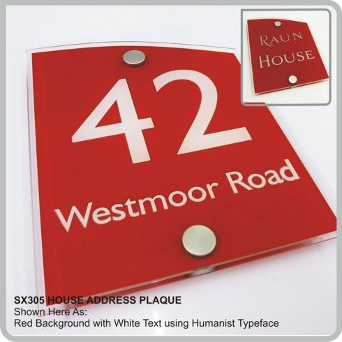 Sx305 House Address Plaques Door Numbers Modern Glass Acrylic