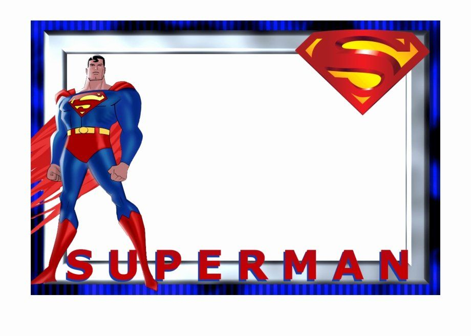 superman birthday invitation template