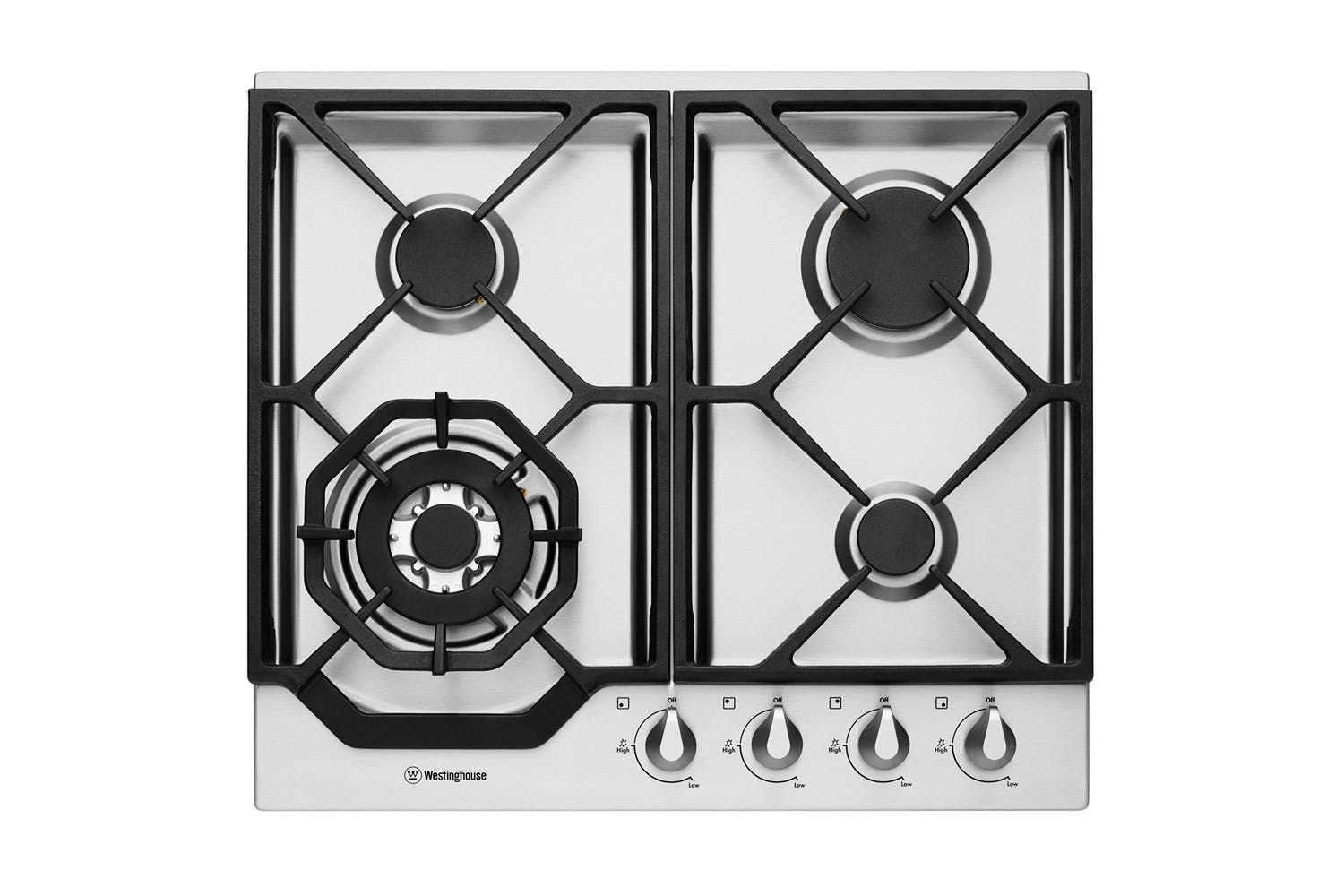 Westinghouse 60cm Stainless Steel Gas Cooktop Harvey