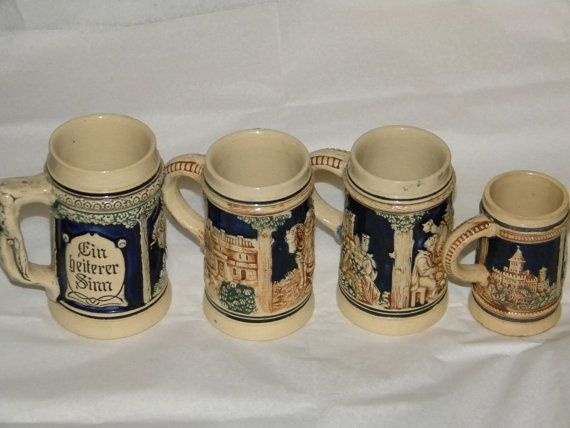 Vintage set of Steins Made in germany by jjmartz on Etsy, $19.99