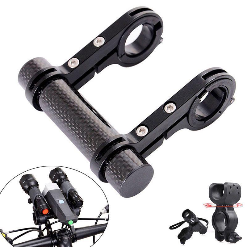 MTB Bike Flashlight Handle Bar Bicycle Holder Accessories Extender Mount Bracket