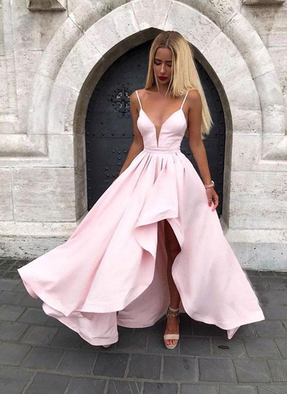 d7760a4f1d0 Light Pink Prom Dresses High Low