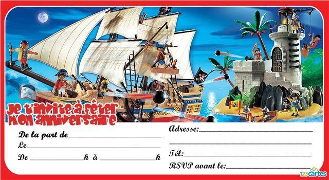 Invitation Anniversaire Playmobil Pirates 6