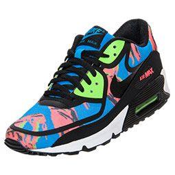 promo code 742c2 2965e Men s Nike Air Max 90 Premium Tape Running Shoes   FinishLine.com   Blue  Hero Black Flash Lime Red