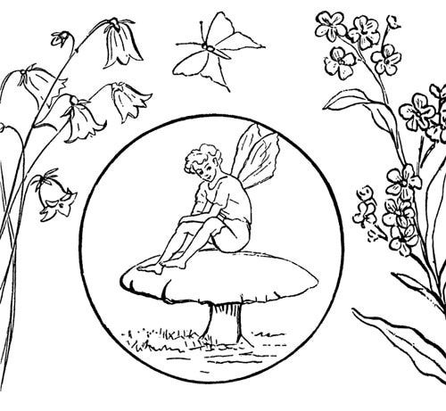 Hand Embroidery Patterns Free Printables | fairy mushroom embroidery