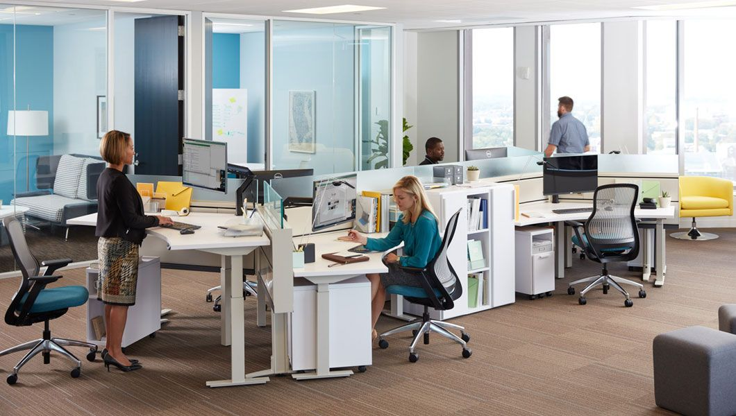Knoll Open Plan Workstation Furniture With Tone Height Adjustable