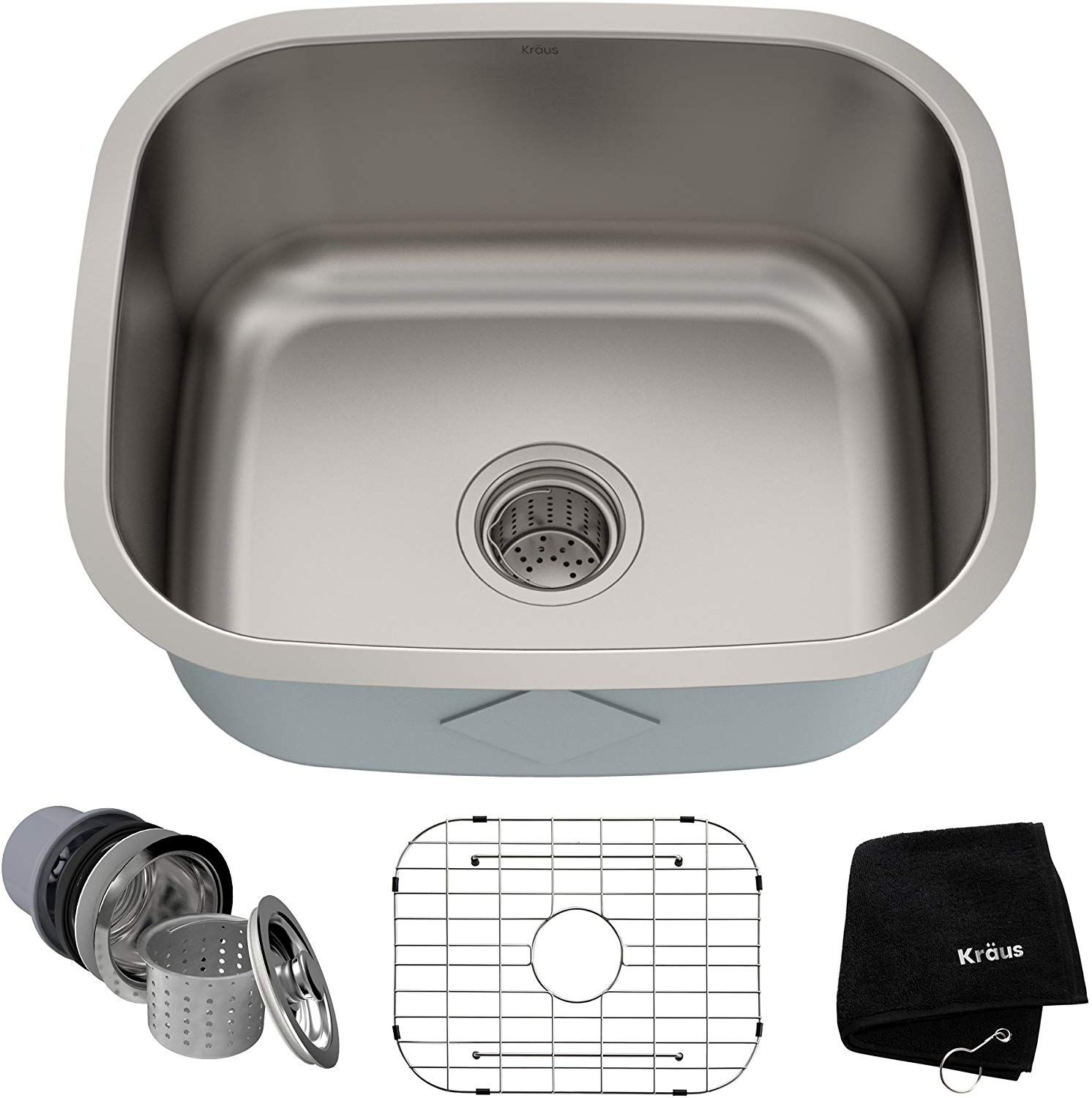Kraus Kbu11 20 Inch Undermount Single Bowl 16 Gauge Stainless Steel Kitchen Sink Single Bowl Kitchen Sink Undermount Kitchen Sinks Kitchen Sink