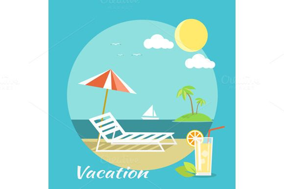 Traveling and Summer Vacation by robuart on Creative Market