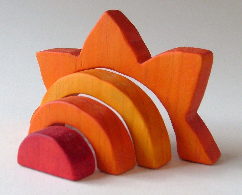 Sun Stacker - Waldorf Wooden Toy- Orange. $14.00, via Etsy.