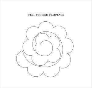 Template For Felt Flower Flower Templates Felt Flower