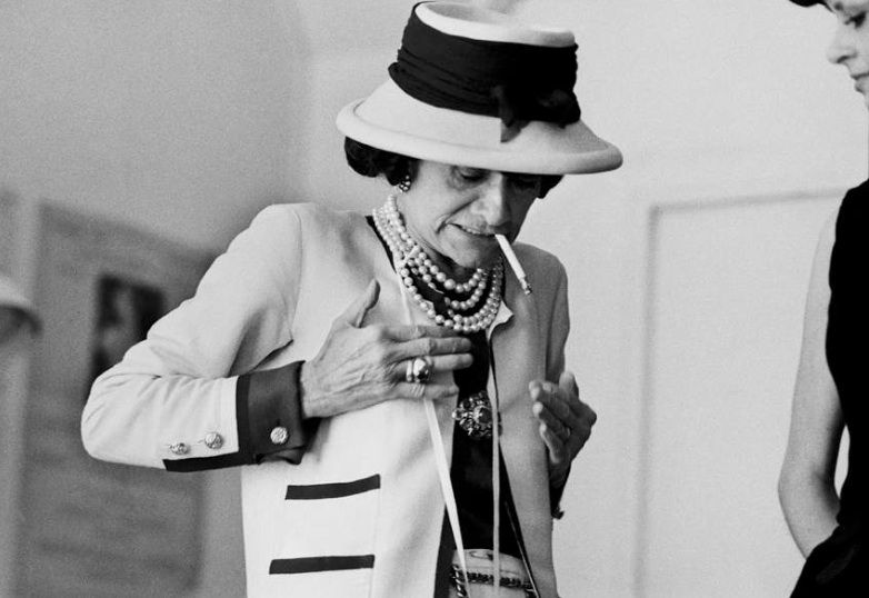 From a series of Douglas Kirkland's intimate photographs of Coco Chanel over 3 weeks in1962