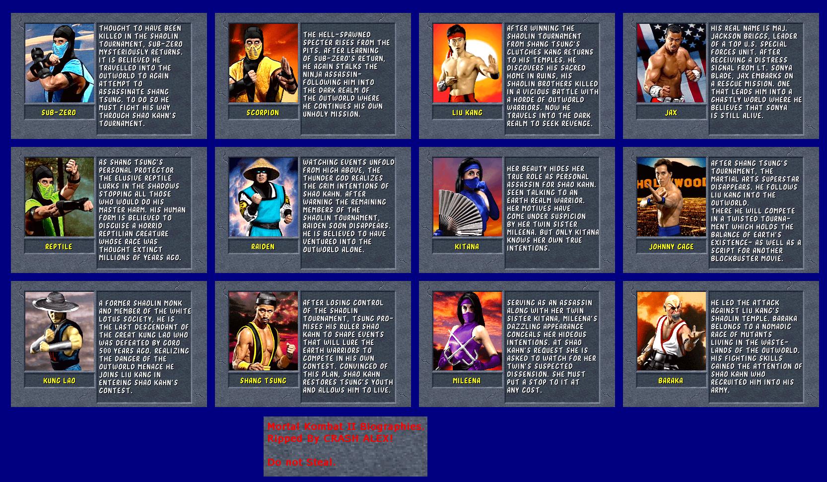 The Spriters Resource - Full Sheet View - Mortal Kombat II