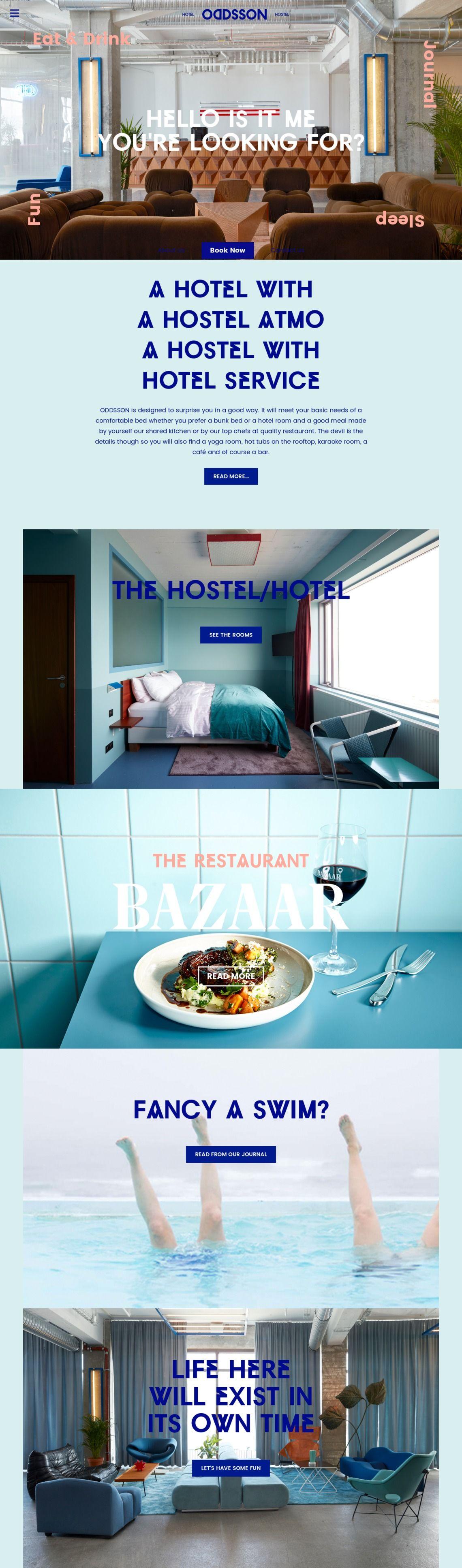 ODDSSON hostel Reykjavik, Iceland. An odd ho(s)tel indeed ...
