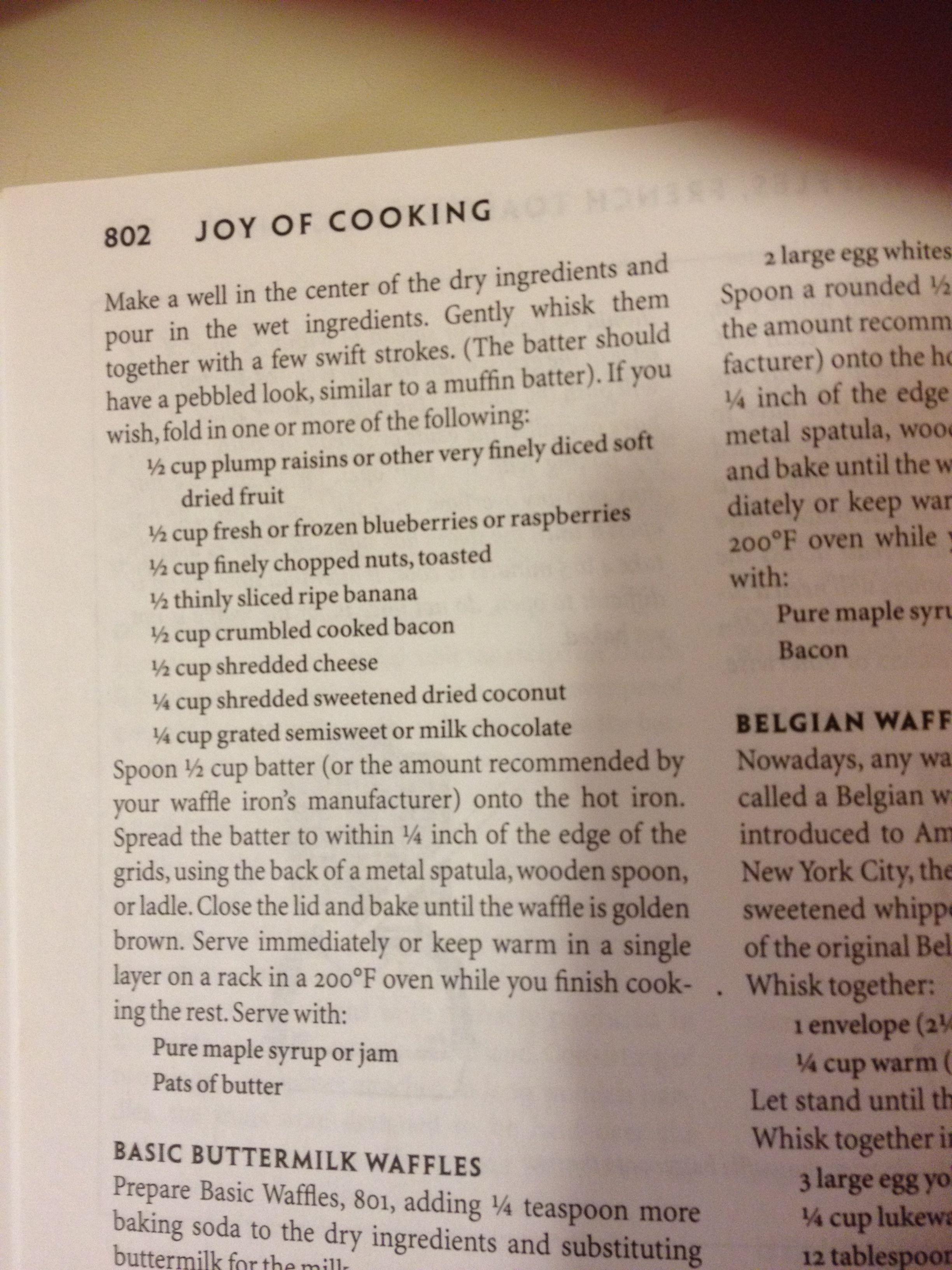 Joy Of Cooking Waffle Recipe Pg 2 Waffle Recipes Joy Of Cooking Belgian Waffles Recipe