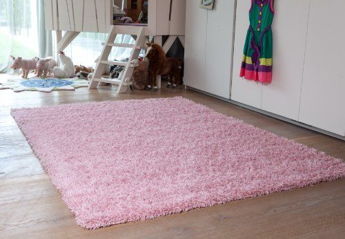 Ontario Bright Colourfast Super Soft Baby Pink Shaggy Rugs ...