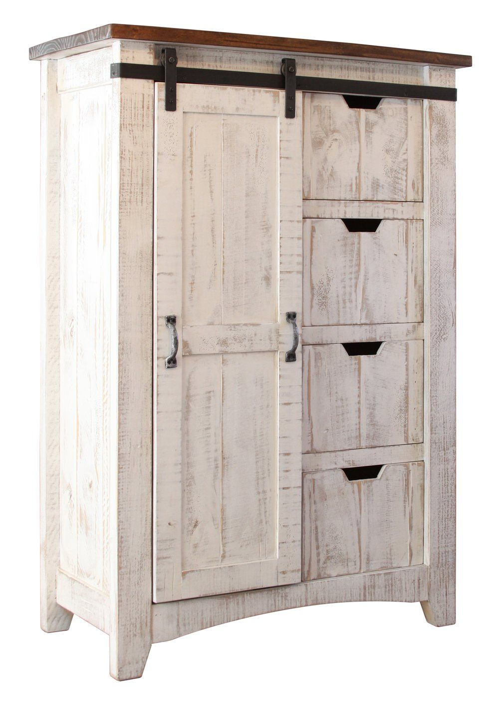 Pleasing Greenview Barn Door Dresser Distressed White In 2019 Download Free Architecture Designs Rallybritishbridgeorg