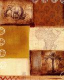 Collage africain II Affiches par Tom Alan
