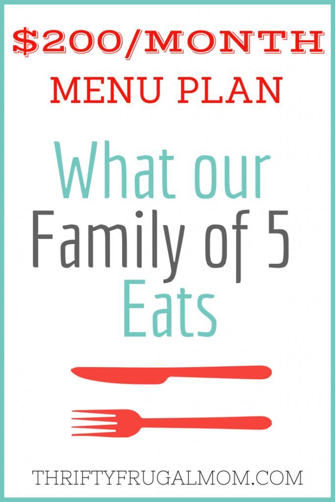 Month Menu Plan For Our Family Of  Post   Menu Planning
