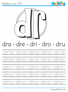 sílabas con dr