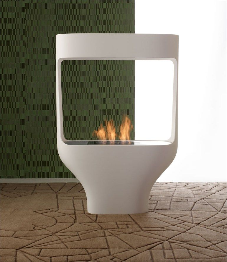 Bioethanol Corian Fireplace Tulip By Italy Dream Design Design