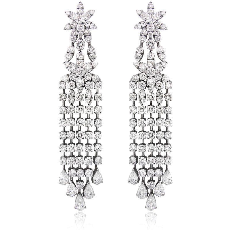 Image detail for diamond 18k white gold chandelier earrings image detail for diamond 18k white gold chandelier earrings aloadofball Images
