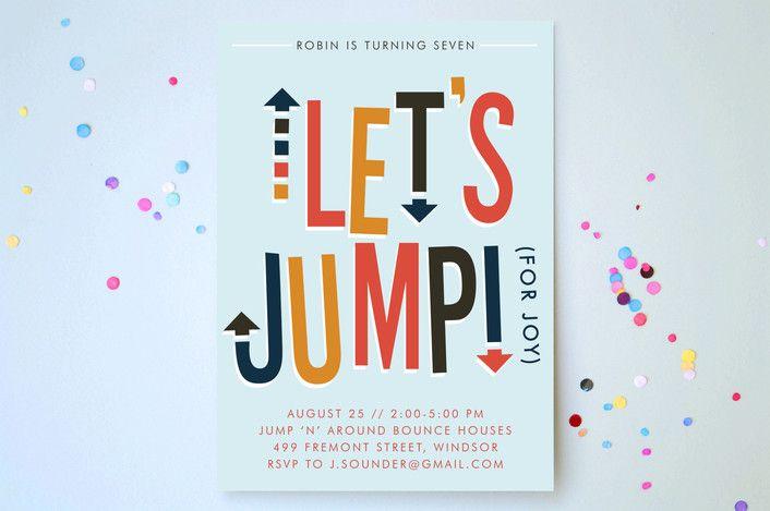 Jump House Childrens Birthday Party Online Invitations Custom