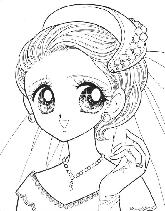 Dibujos De Ninas Para Colorear Kawaii Imagesacolorier Website