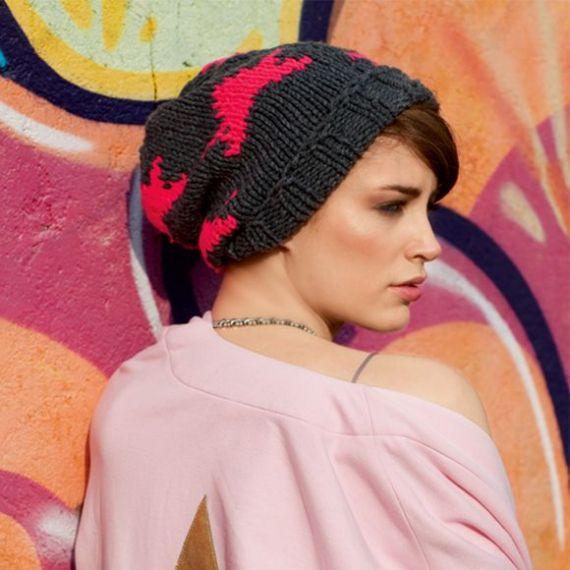 Як сплести на спицях модну шапку біні  майстер-клас dd17fc723dee4