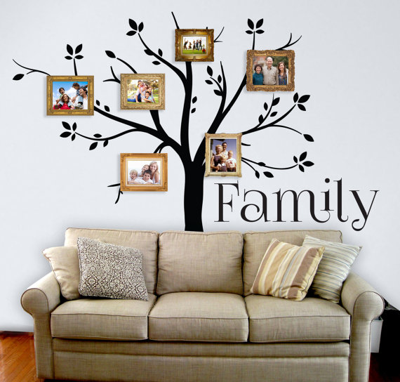 Family Tree Wall Decal Custom Vinyl Wall Decal Wall Graphic - Custom vinyl wall decals