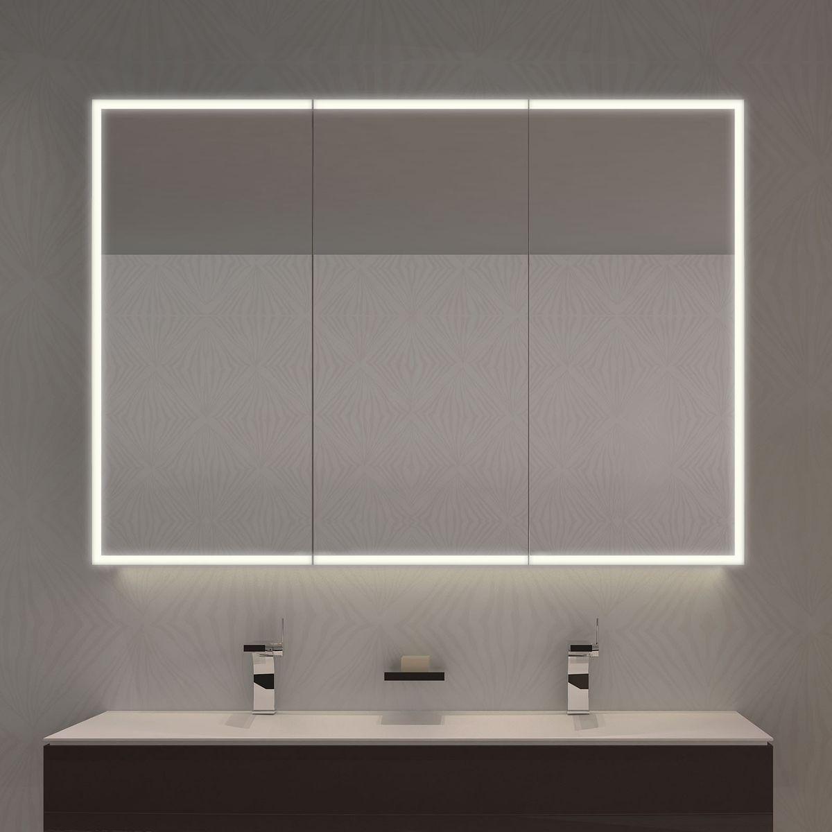Beleuchtung für die unterputzmontage im esszimmer spiegelschrank nach maß credo  kompakter u sicherer stauraum