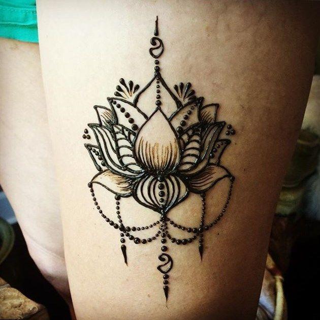 Henna Hot Tattoo Thigh Henna Henna Designs Hand Henna Tattoo Designs