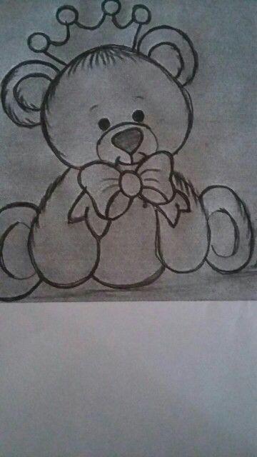 Ursinho De Coroa Desenho De Urso