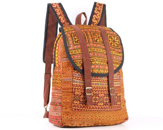 Tribal, Backpack, Embroidery, Traditional, Boho, Hippie, Gypsy, Travel Backpack, School Backpack, Stylish Backpack, Teen Backpack, Bohemian, college backpack