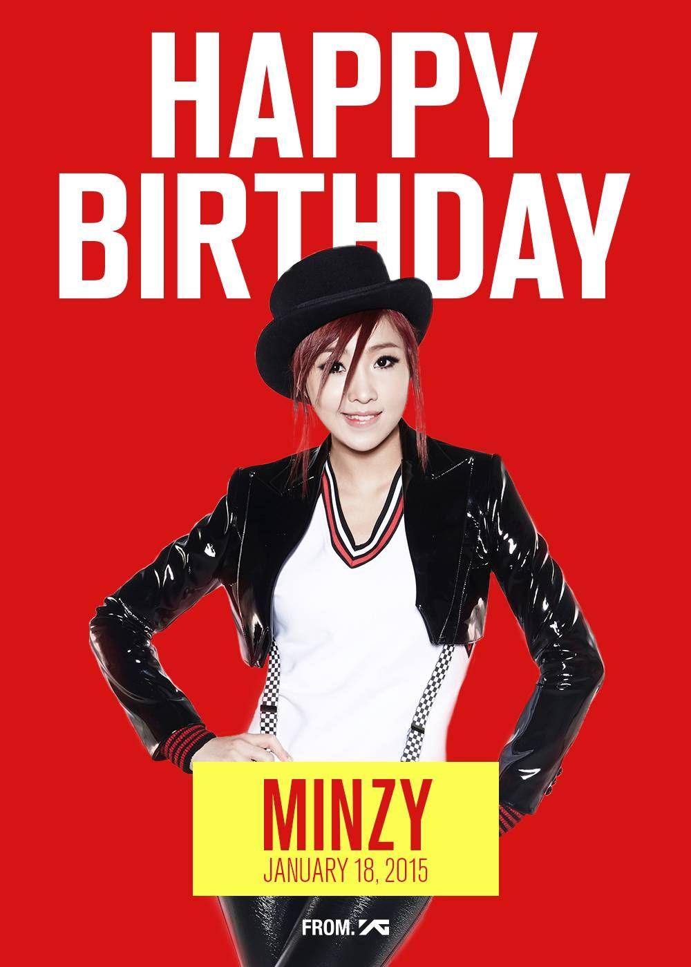 Fans celebrate Minzy's birthday on Twitter 2ne1, 2ne1