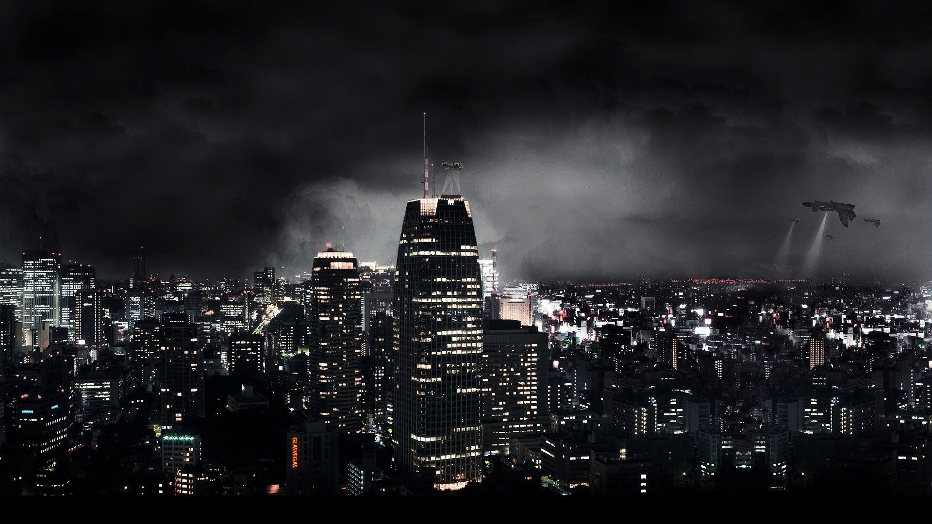 Cool Pictures City Skyline Dark City City Wallpaper City Background