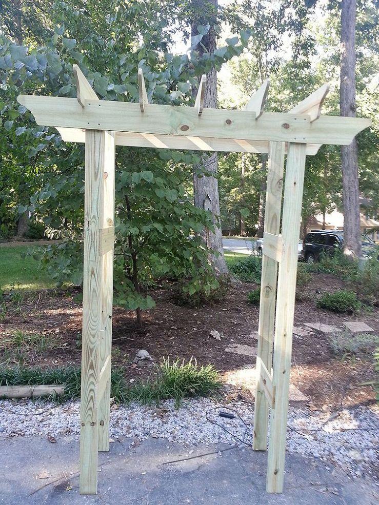 Instructions for garden pergola arbor for under 20 for Free standing garden trellis designs