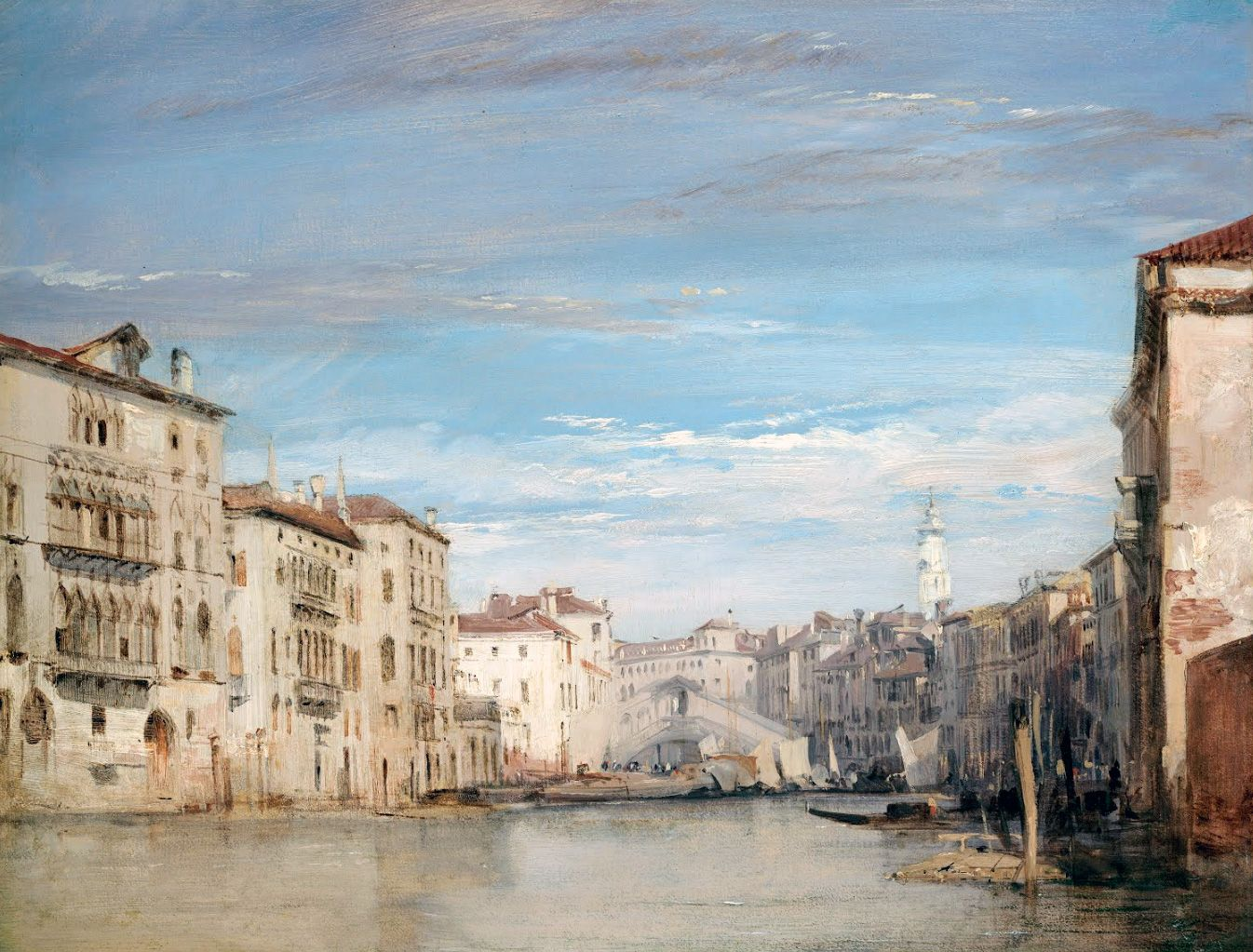 Richard Parkes Bonington / The Grand Canal, Venice, Looking Toward ...