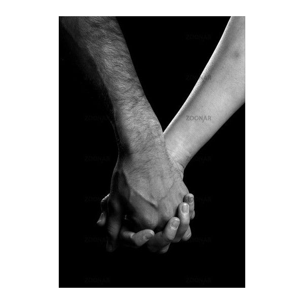 Black and white photo of two people holding hands liked on ...