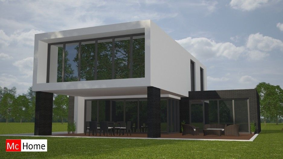 mc home homenl m92 moderne kubistische villa met grote raampartijen duurzame materialen staalframebouw of homes ltd