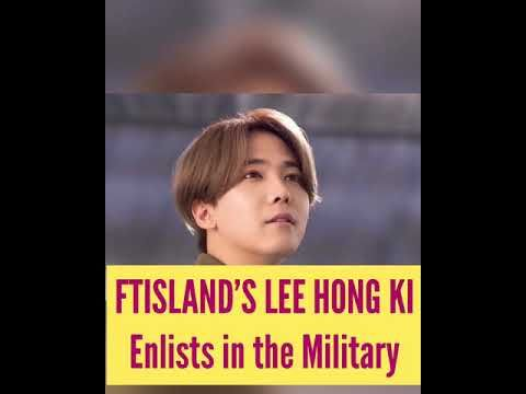 F.T. Island's Lee Hong-gi enlists in Army
